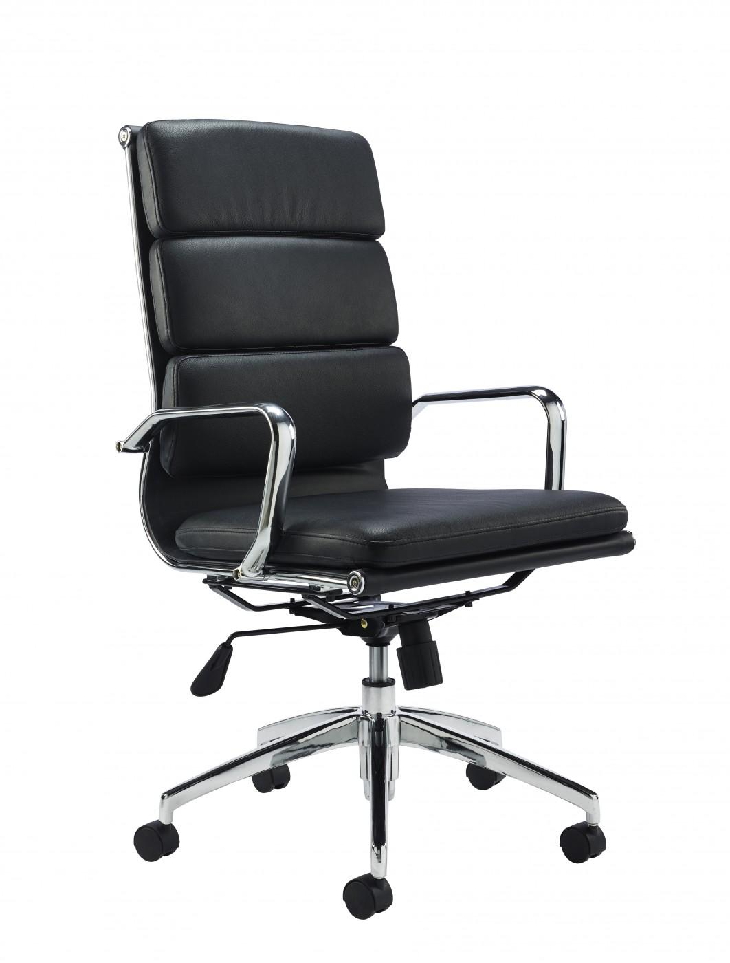 Apulia Black Leather Office Chair N0253BK